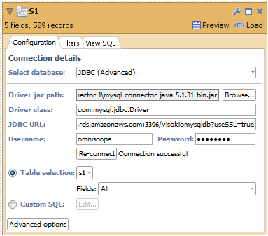 Data sources: Connecting to Amazon RDS database MySQL using ssl