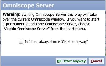 Start Omniscope Server