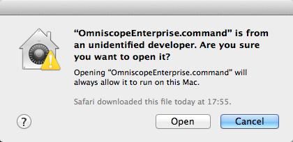 Open unidentified developer